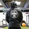 Power & Fitness Hoodie Grau Back