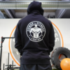 Power & Fitness Hoodie Schwarz Back