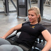 Power & Fitness Damen-Shirt bei Hip-Thrusts